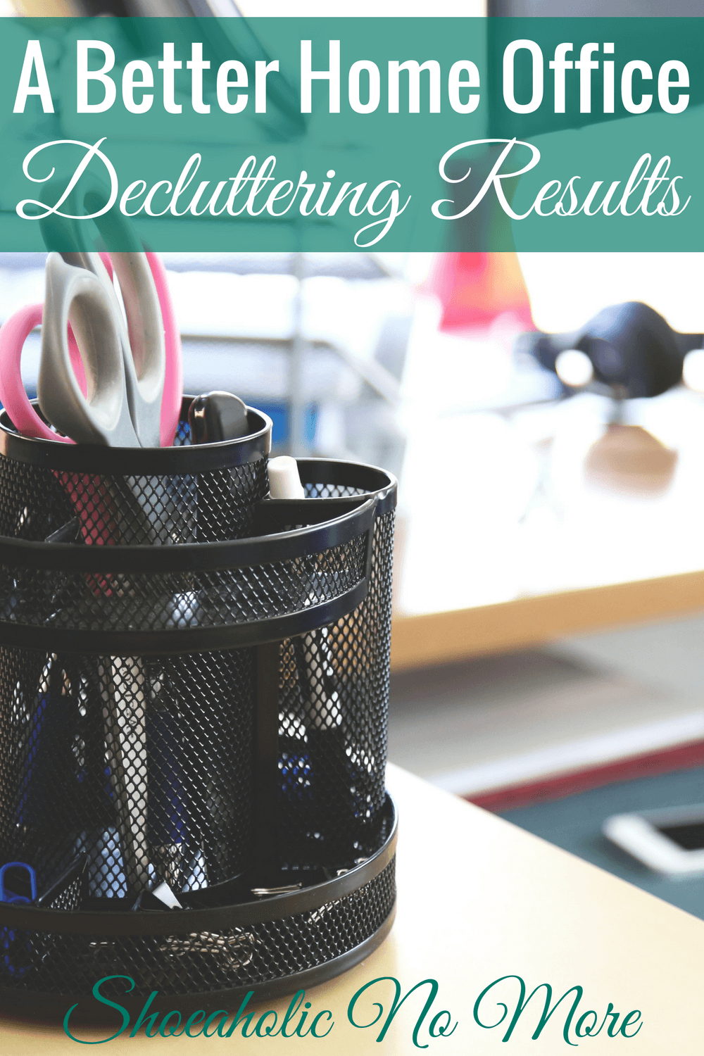 I love how this blogger decluttered her office and is starting new!