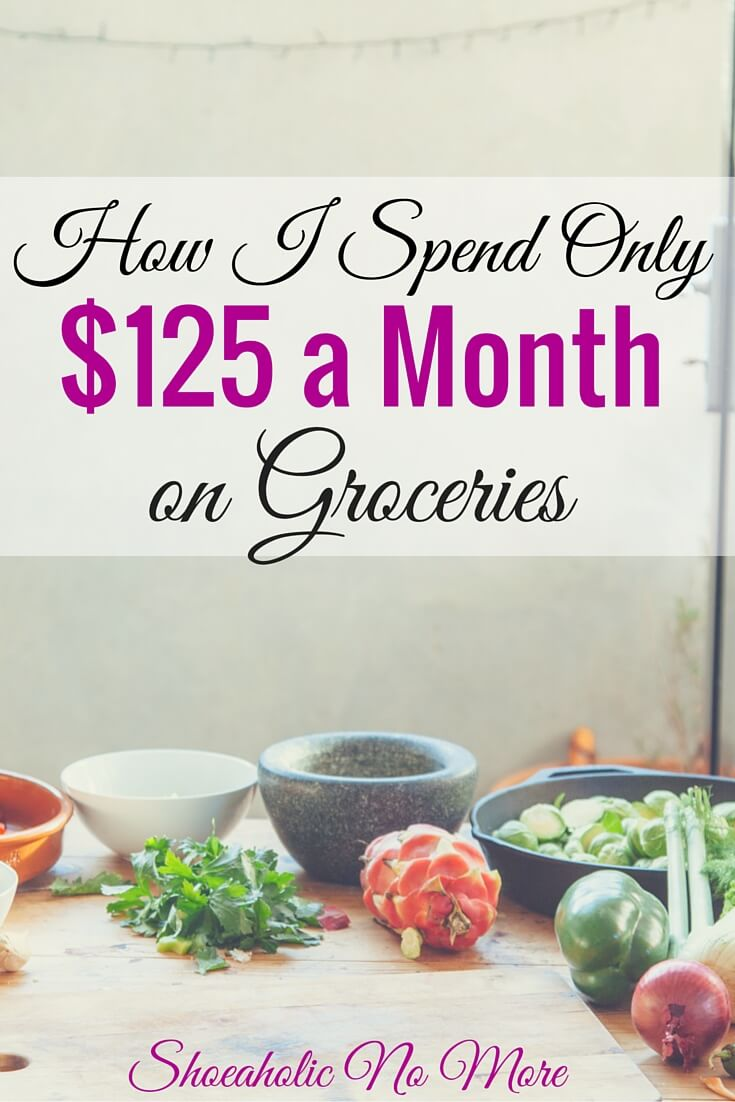 Think it's impossible to only spend $125 a month on groceries? How 1 (sometimes 2) people spend only $125 a month on groceries!
