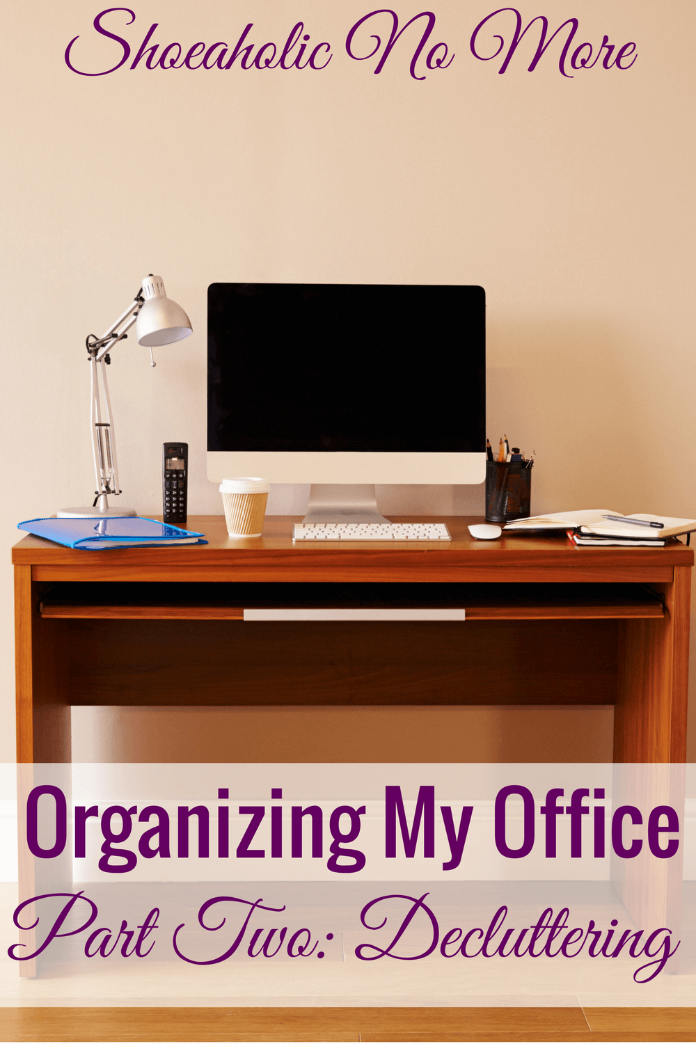 Check out how this blogger decluttered her home office and organized her business!