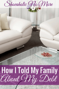 I love that this blogger confessed about her debt to her family, and it's even better that she has a plan to get out of debt!