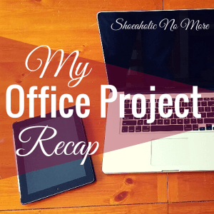 I'm remodeling my home office! Check out my progress at @shoeaholicnomore