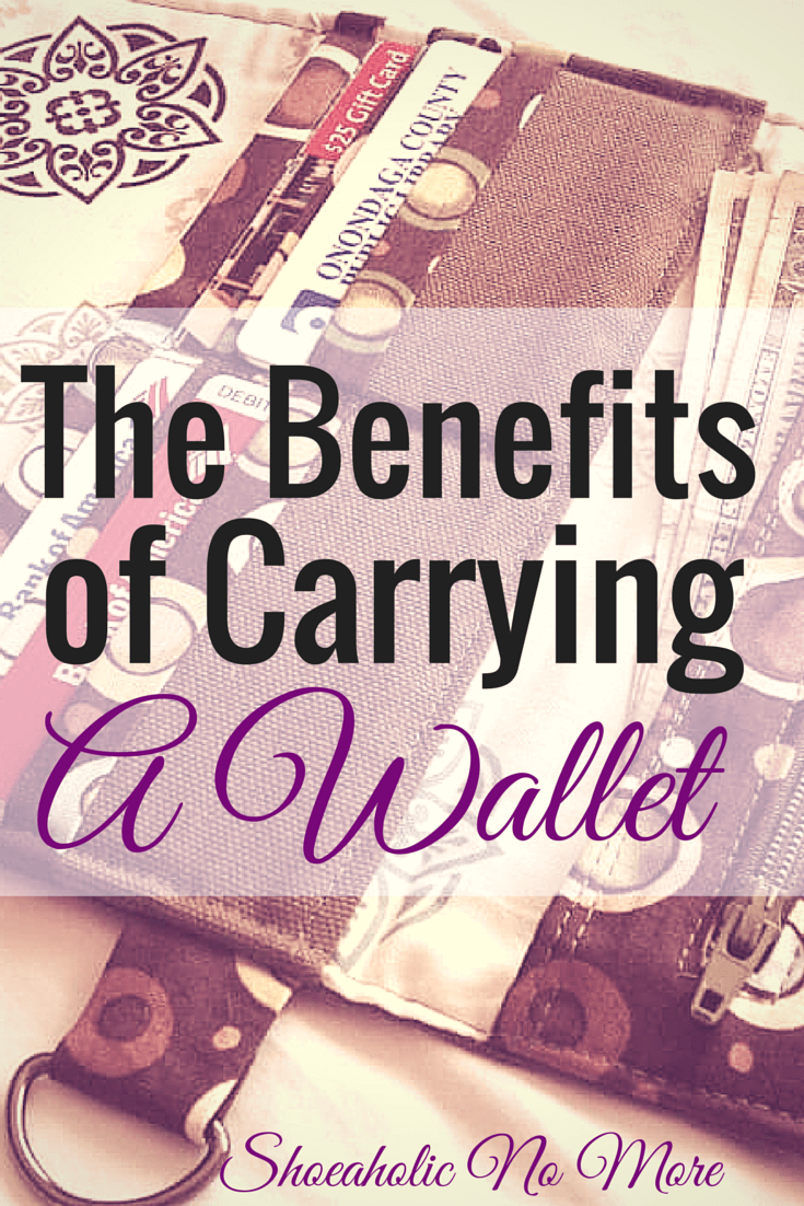 Sometimes it's more beneficial to carry a wallet over a purse via @shoeaholicnomore
