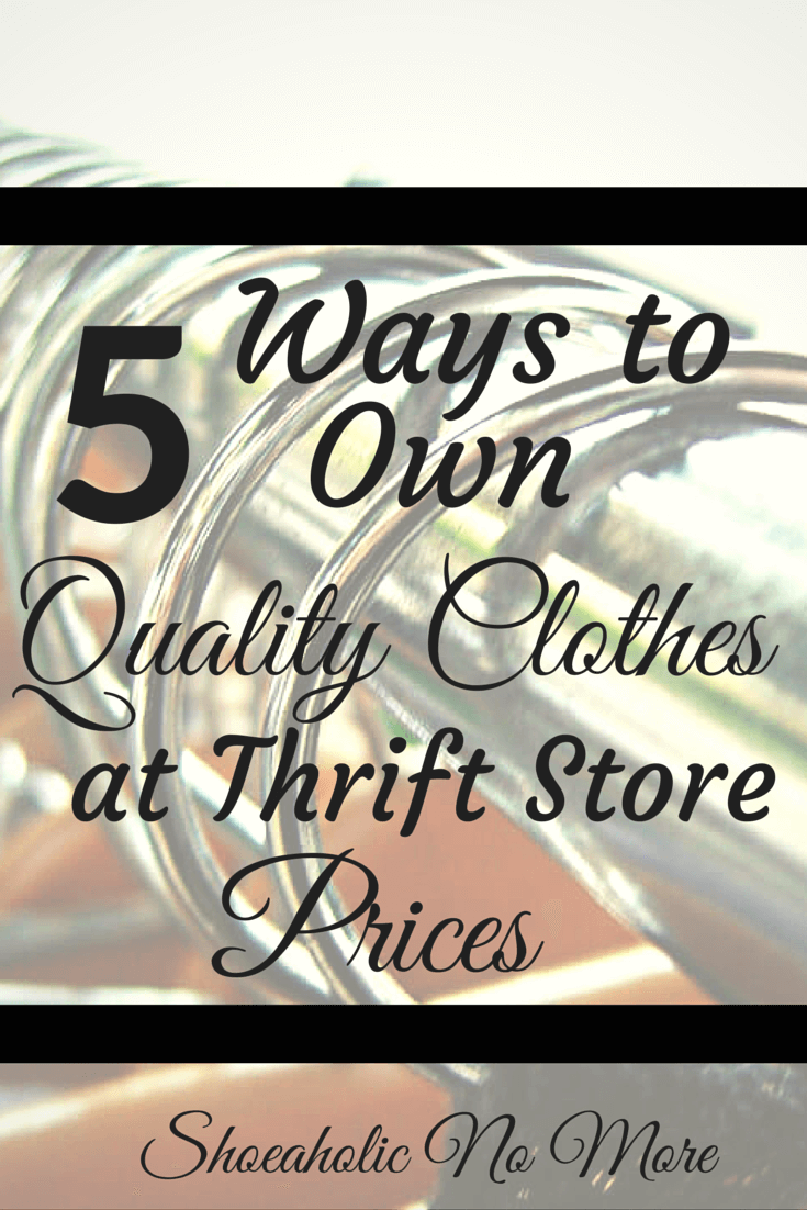 Who says thrift store clothes aren't quality? Here's how to find quality clothes at the thrift store via @shoeaholicnomore