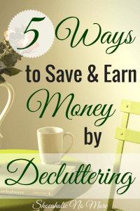 Did you know your stuff could actually help you save AND earn money? Start by decluttering and you'll be surprised by what you'll find! @shoeaholicnomore