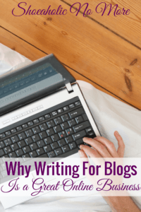 If you are looking for a way to make money online, a great option is to write for other blogs! There are so many blogs out there that need quality writers, and plus it helps build your freelance portfolio.