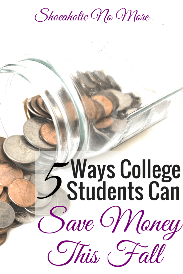 College can be expensive, but there are still ways to save money! Here are 5 ways you can save money this fall in college via @shoeaholicnomore