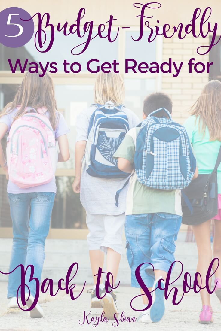 School supply shopping doesn't have to break your budget. Use these 5 simple, budget friendly tools for getting your kids back to school ready.