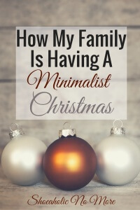 This year, my family and I will be celebrating a minimalist Christmas. What will this look like? Read on to learn more about my minimalist Christmas!