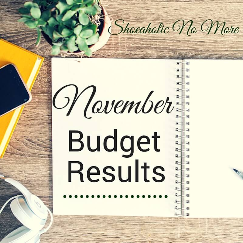 It's the last month of the year! How did I do on my November budget? Check it out here!