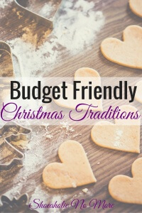Budget Friendly Christmas Traditions
