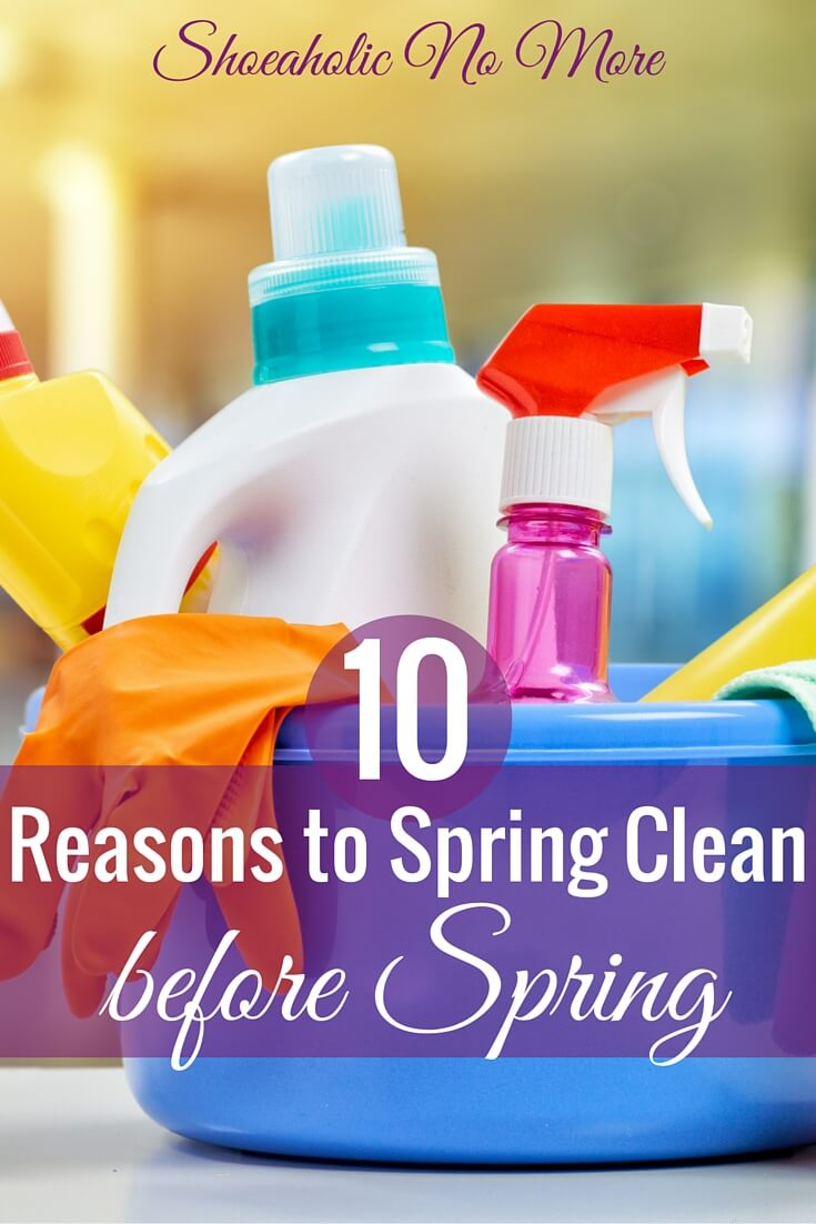While I know cleaning isn't everyone's favorite topic, there are important reasons to spring clean before spring! Here's how to get started.