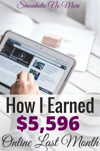 Last month I earned $5,596 in online income! How I did it here.