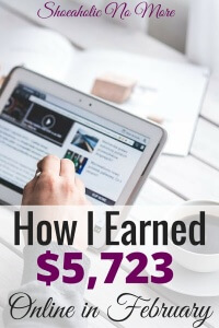 I can't believe I made this much in February and am lucky enough to work from home! Here's how I earned $5,723 this month.