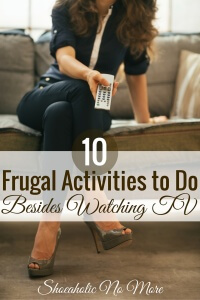 There are so many frugal things you can do other than watching TV! Check out number 4 - it's my favorite!