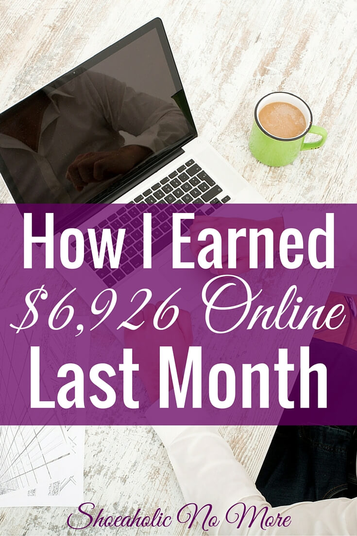 Last month, I earned $6,926 being a freelance writer and virtual assistant! How I make money from home, and how you can too.