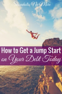 Drowning in debt? Here's how you can jump start on your debt payoff today!