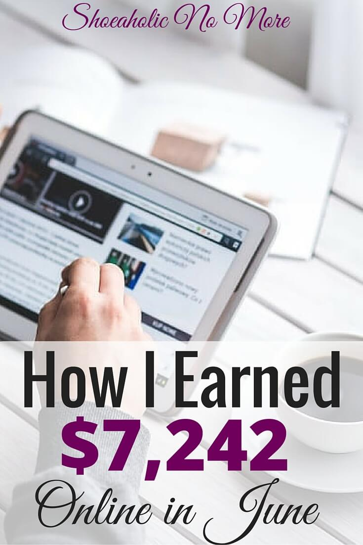 One of my best months for freelancing, in June I made over $7,000! How did I do it working from home? Check out my sources of income here.