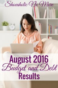 August 2016 Results