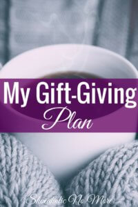 there's nothing wrong with being excited for Christmas and giving gifts to your loved ones, this usually translates into me spending more than I anticipated on gifts for my friends and family. That's why I made a gift giving plan.