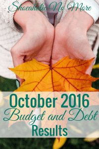 I didn't even make a formal budget for October, but I still wanted to report my spending for the month. Find out how I did without a budget.