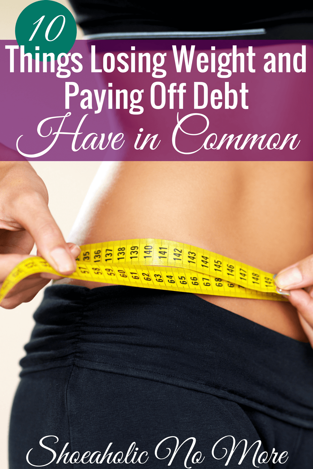 Losing weight and paying off debt are hard things to do. I love how this blogger broke it down to show all the things they have in common.