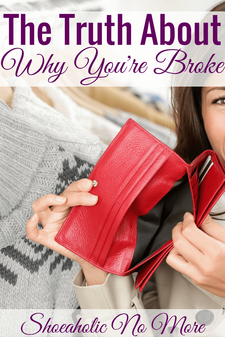 Do you really want to know why you're broke? It's not because of the government, your employer, or your parents. Only you can change your finances.