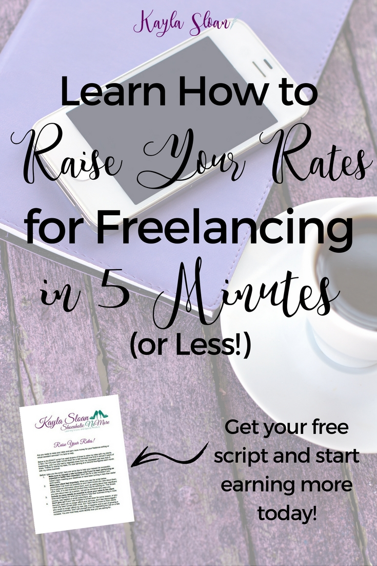 Download a free script I've successfully used to raise my freelance rates dozens of times!
