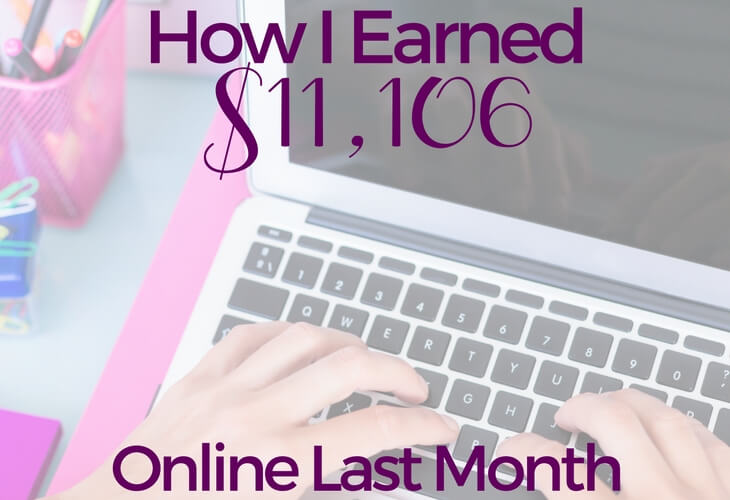 Online Income: $11,106 in July 2017