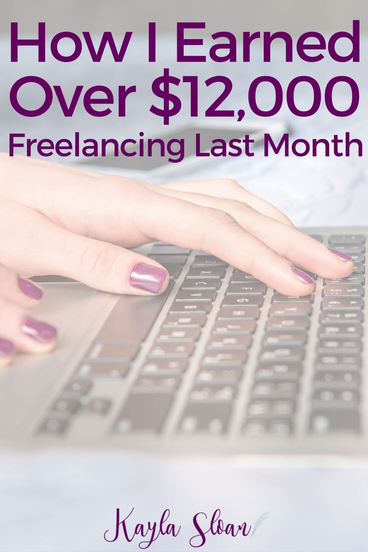 Last month I earned over $12,000 with my online freelance writing and virtual assistant business. Find out how and how much it costs to run my business.