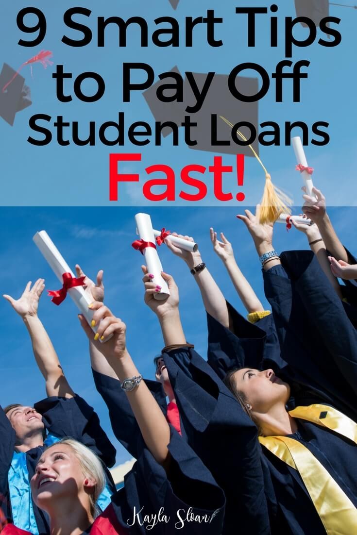 Tired of being in debt? Use these smart tips to pay off student loans faster than you thought possible! You'll be debt free in no time.