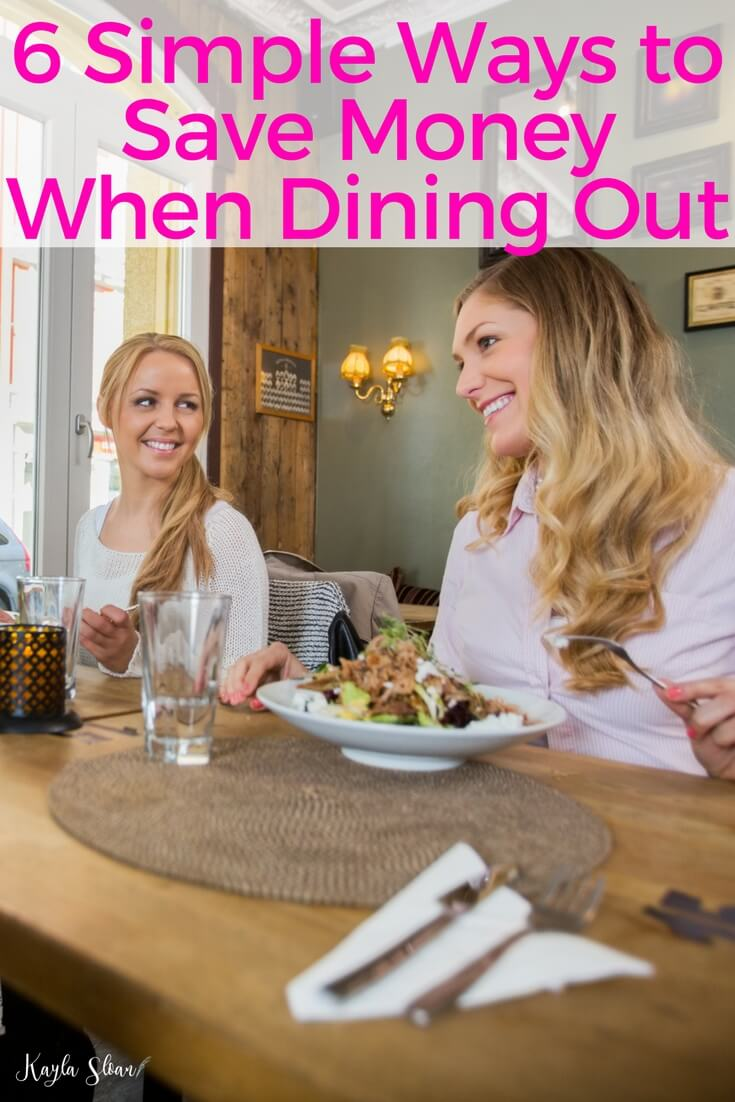You don't have to be a hermit who never eats out in order to save money. There are plenty of easy ways to save money when dining out.