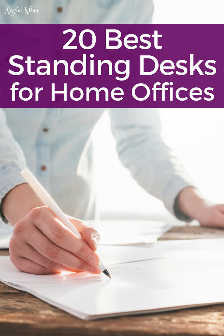 Standing desks come in a variety of sizes and styles to fit your needs. Below are some of the best standing desks for home offices.